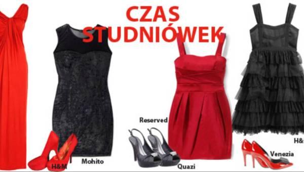 Jak się ubrać na studniówkę: czarno – czerwona klasyka