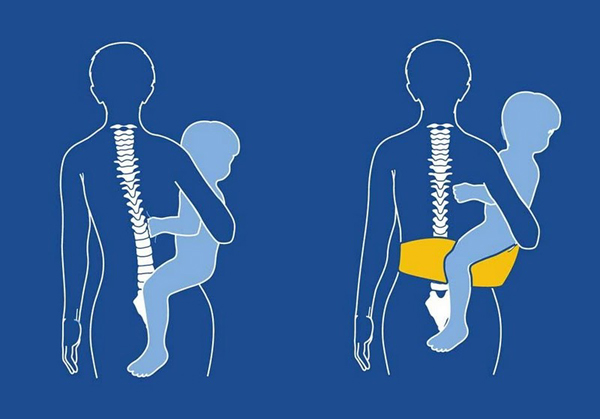 jak nosić dziecko bez bólu kręgosłupa