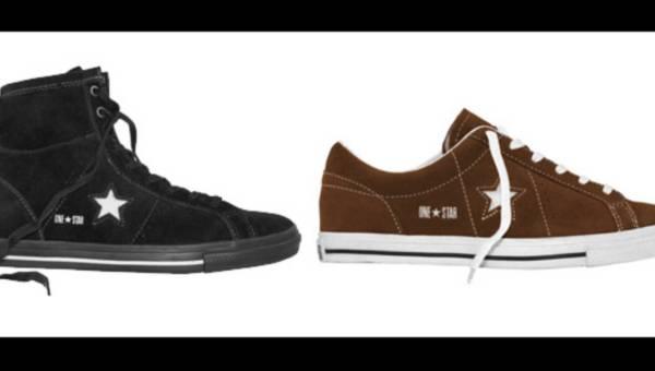 Zamszowe i skórzane buty Converse One Star na jesień 2011