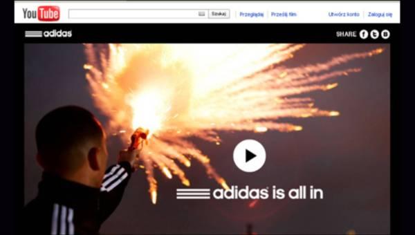 adidas is all in ..trzy marki, różne zainteresowania – jedna nowatorska kampania