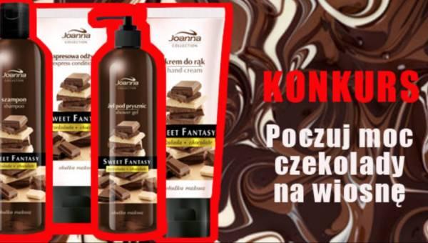 """Konkurs: """"Poczuj moc czekolady na wiosnę"""" i wygraj zestaw kosmetyków z linii czekoladowej marki Joanna"""