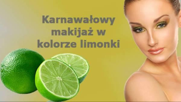 Wieczorowy makijaż w kolorze limonki