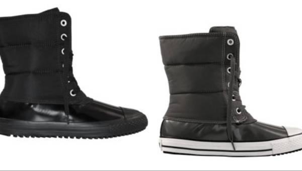 Na zimowe chłody – puchowe buty od Converse