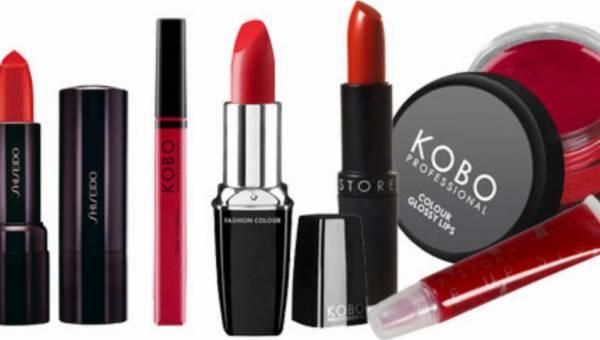 Pomadki i błyszczyki w kolorze czerwieni – propozycje od KOBO, Make Up Store oraz Shiseido