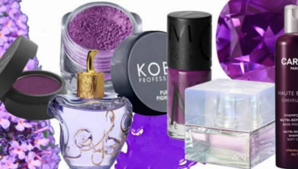 Kosmetyki w kolorze fioletu