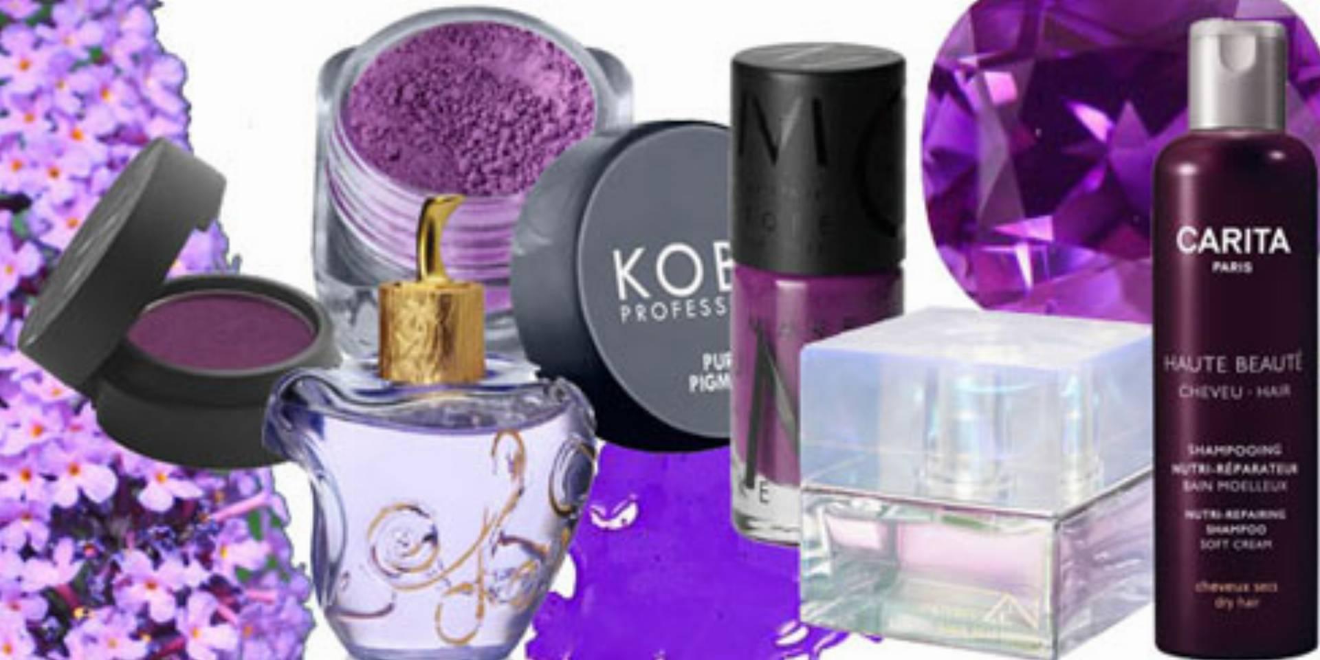 fiolety fioletowe kosmetyki