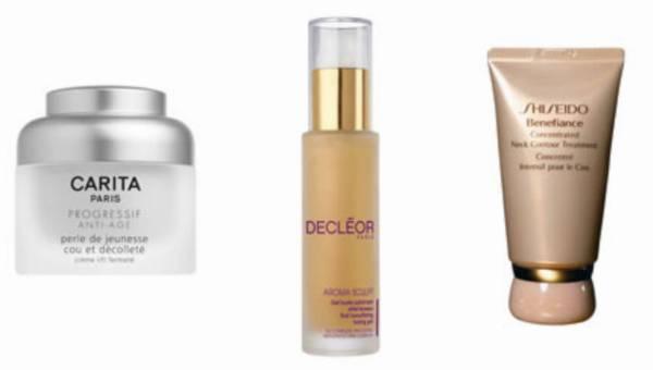 Carita, Decleor i Shiseido – piękno oraz młody wygląd szyi i dekoltu