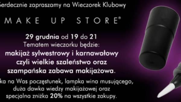 Zaproszenie za wieczorek z Make Up Store