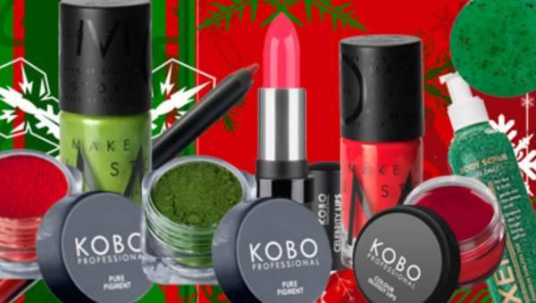 Kosmetyki w kolorze świąt