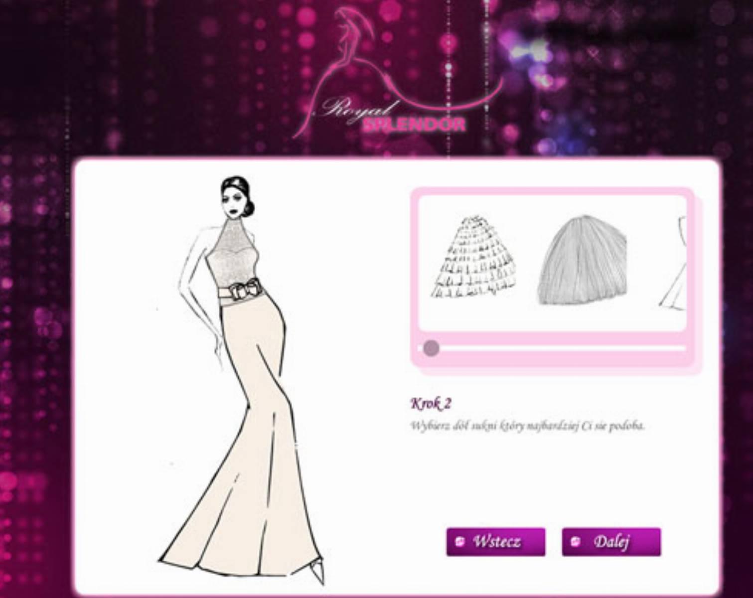 Royal Splendor - aplikacja do projektowania sukien