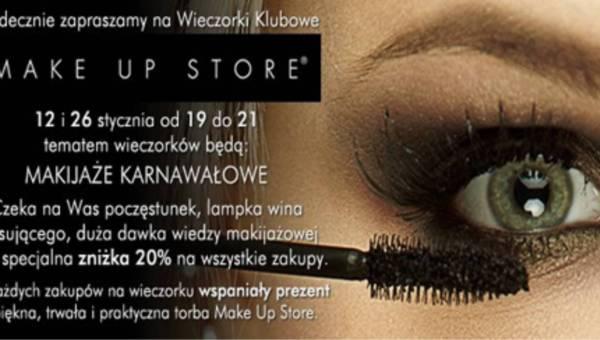 Zaproszenie na wieczorek klubowy Make Up Store