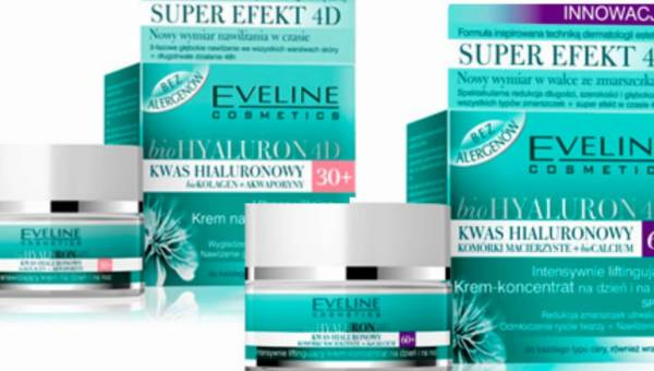 Nawilżanie i odmładzanie – nowe kremy 30+ i  60+  z serii BioHYALURON 4D Eveline Cosmetics