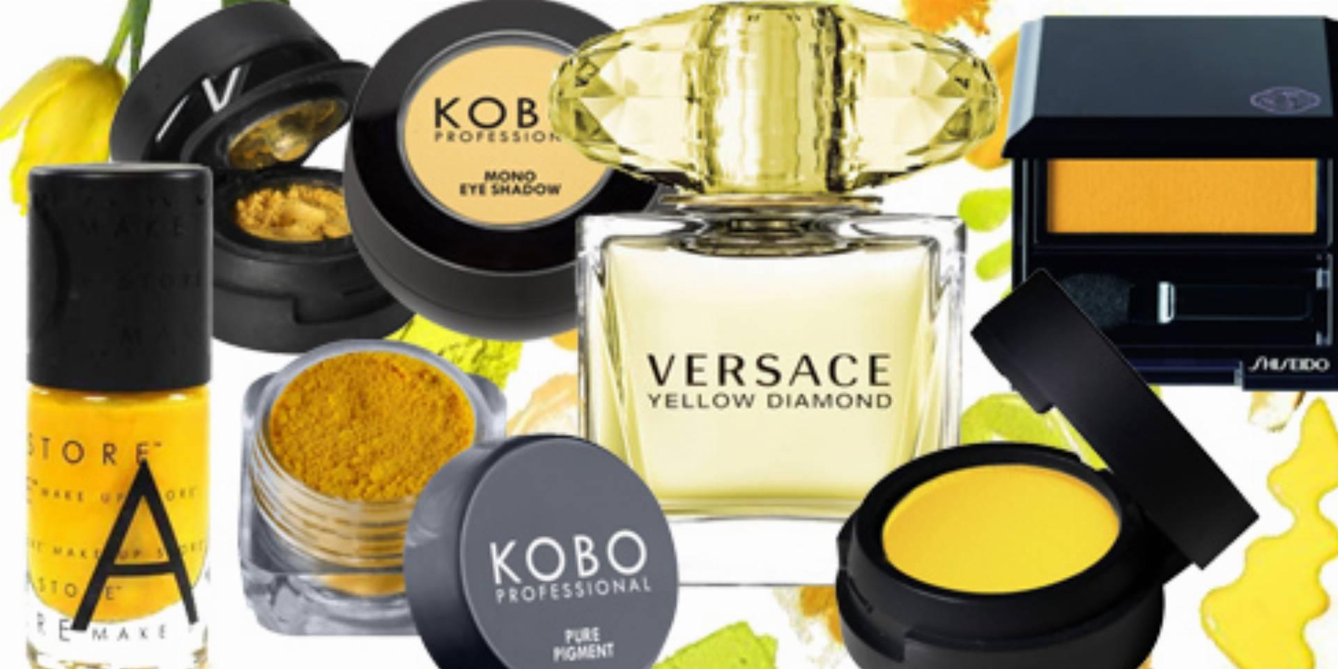 żółte kosmetyki