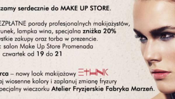 Zaproszenie na wiosenny wieczorek makijażowy z Make Up Store