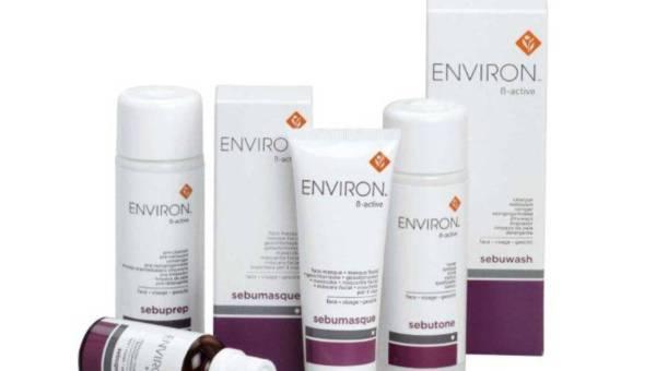 β-Active – produkty Environ  dla skóry problematycznej, łojotokowej z trądzikiem