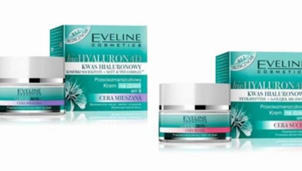 Siła kwasu hialuronowego w nowych kremach  z serii bioHyaluron 4D Eveline Cosmetics