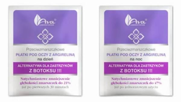 Innowacyjne przeciwzmarszczkowe płatki pod oczy z argireliną z Laboratorium Kosmetycznego AVA