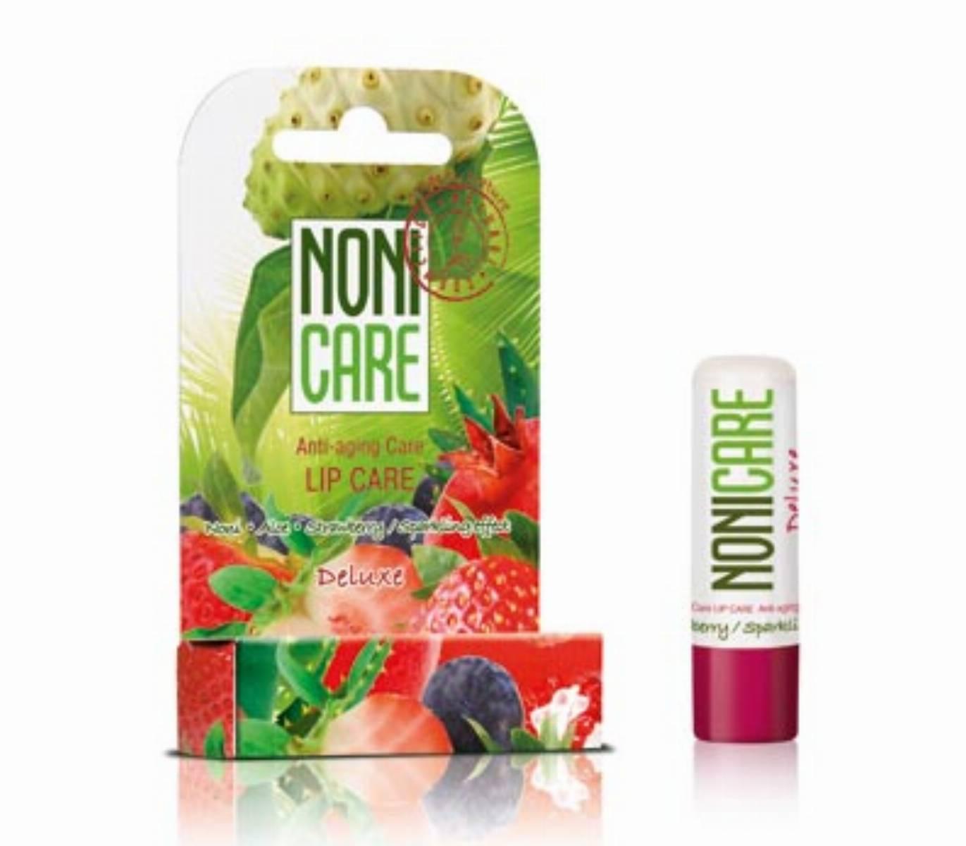 Pomadka ochronna Noni Care Deluxe Anty–Ageing – efekt blyszczacych ust