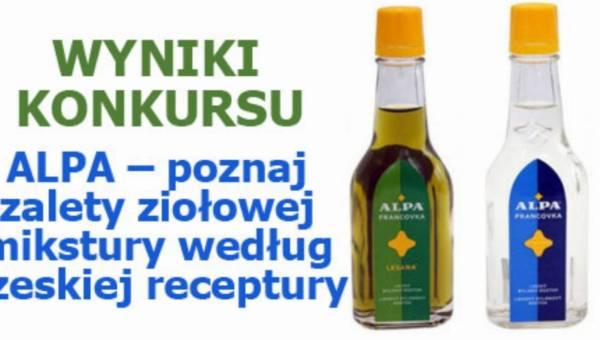 WYNIKI KONKURSU: ALPA – poznaj zalety ziołowej mikstury według czeskiej receptury