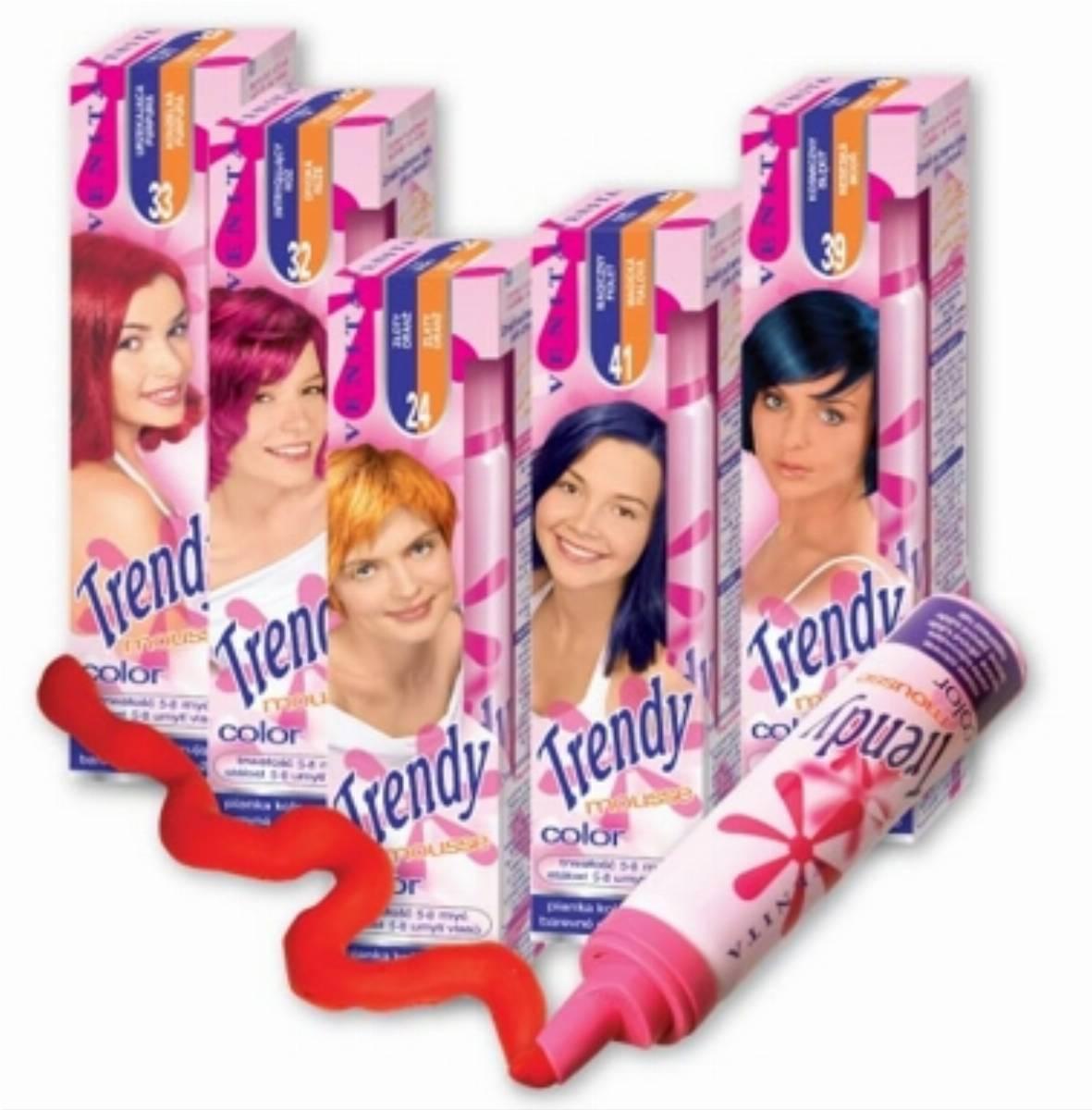 pianki koloryzujące do włosów