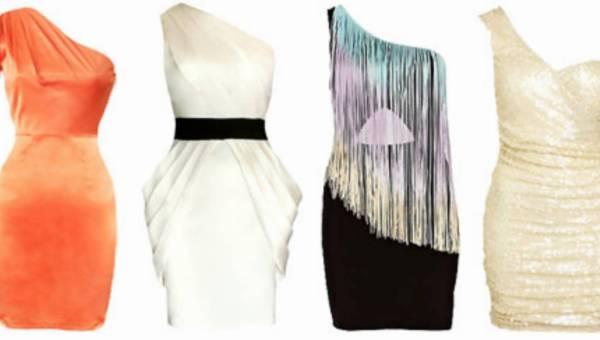 Asymetryczne sukienki na jedno ramię!