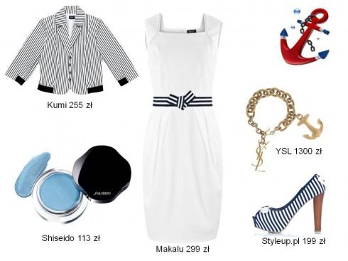 trend_marynarski, stylizacje marynarskie, biały i granatowy, sukienka biała, sukienka granatowa,