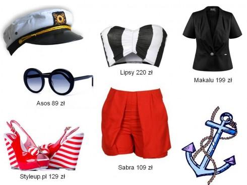 trend marynarski, stylizacje marynarskie, biały i granatowy, sukienka biała, sukienka granatowa, moda na lato 2012