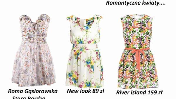 Sukienki w romantycznym stylu na wiosnę i lato 2012