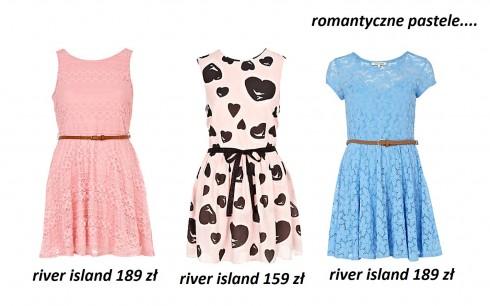 sukienki 2012, romantyczne, sukienki pastelowe