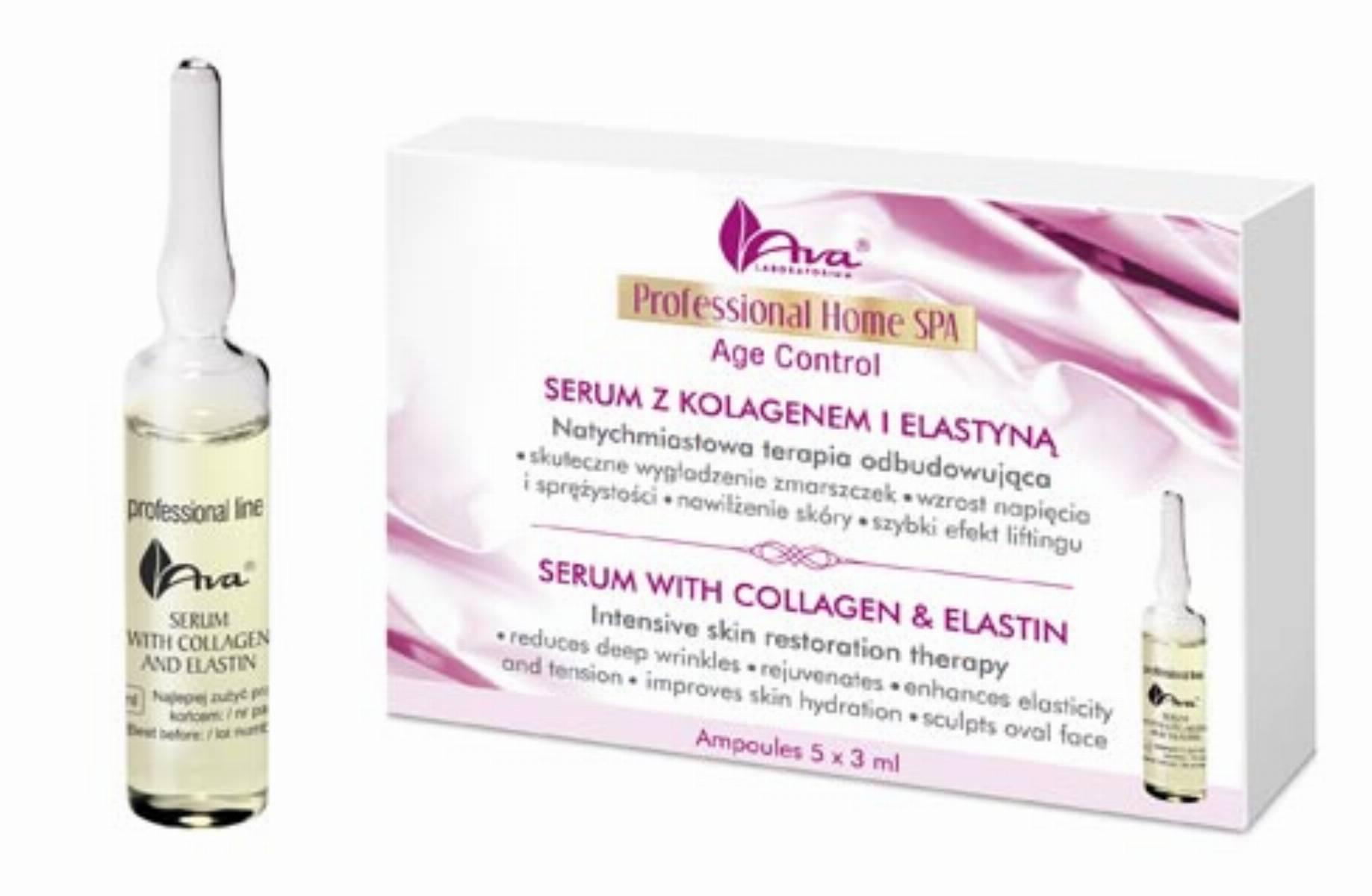 Ava - Serum z kolagenem i elastyną Professional Home SPA