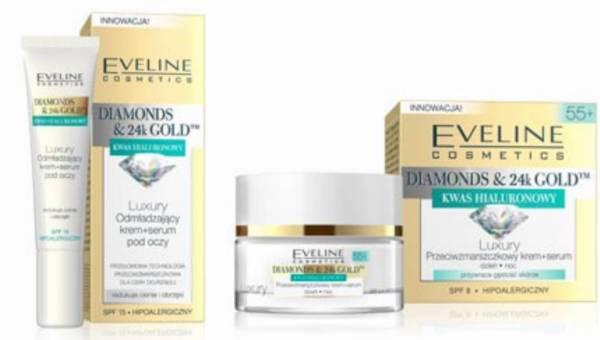 Luksusowe kosmetyki Diamonds & 24k Gold od Eveline Cosmetics