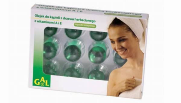 Herbaciana kąpiel z olejkiem z drzewa herbacianego i witaminami A i E firmy GAL