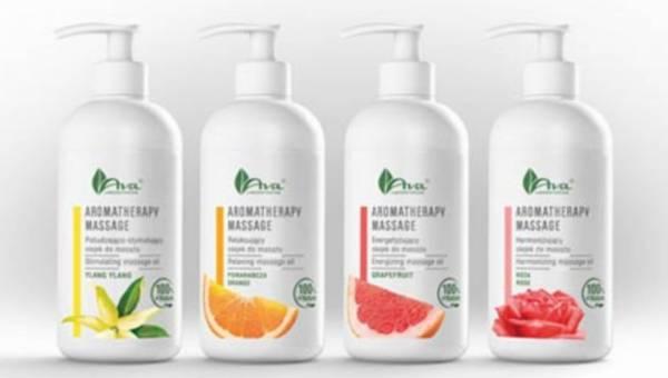 Olejki do masażu aromaterapeutycznego AVA –  100% natury pomaga odzyskać zdrowy wygląd skóry  i zachować dobry nastrój