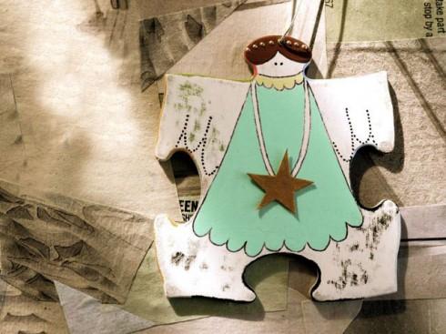 ozdoby świąteczne, aniołki na choinkę, jak zrobić ozdoby świąteczne samemu