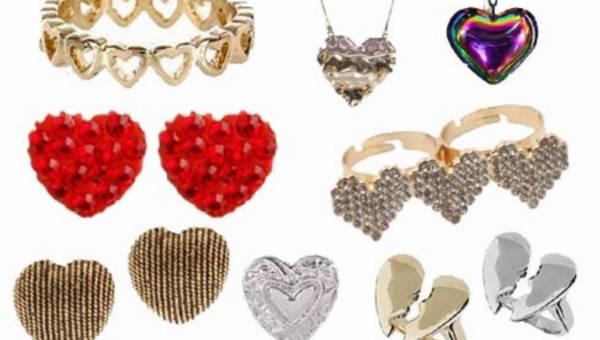 Walentynkowa biżuteria z motywem serca