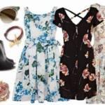 Stylizacje - kwiecista sukienka