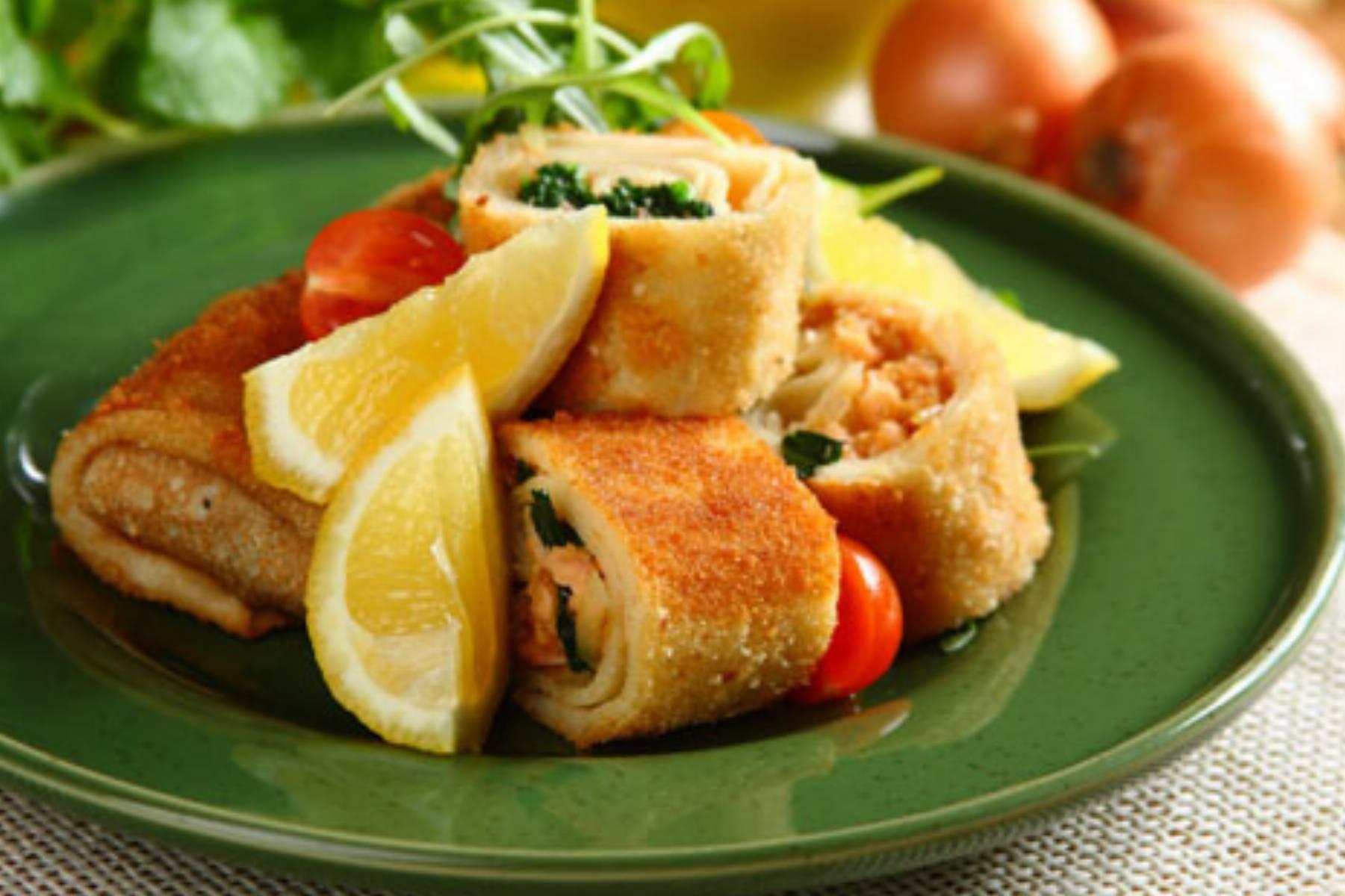 Knorr - krokiety ze szpinakiem i lososiem