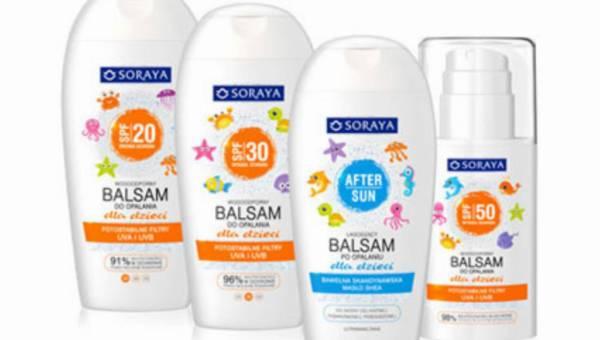 SORAYA – linia kosmetyków do opalania dla dzieci na lato
