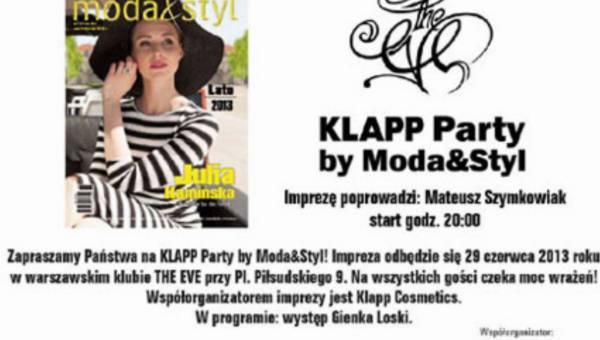 KLAPP Party by Moda& Styl