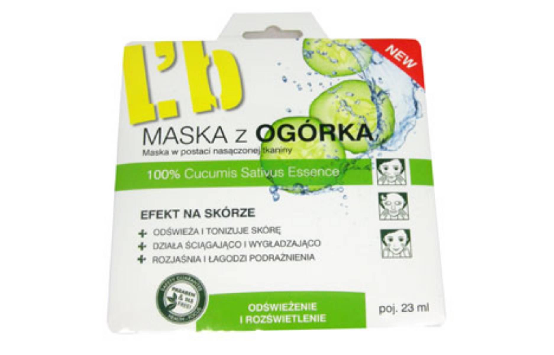 Maska z ogorka L'biotica
