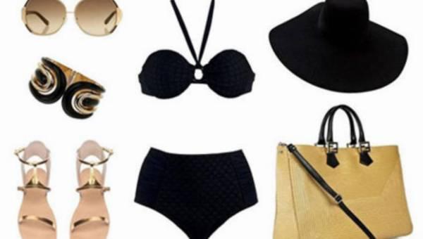 Klasyka na plaży – duet czerni i złota