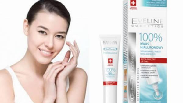 Głebokie nawilżenie i regeneracja skóry – 100% Kwas Hialuronowy Serum nawilżająco-wygładzające od Eveline Cosmetics