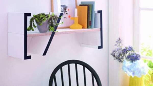 Zrób to sama: stylowa ozdoba na Twoją ścianę – minimalistyczna półka