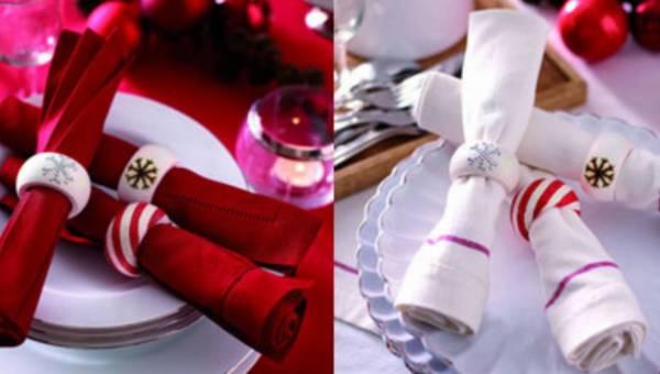 Oryginalna dekoracja na wigilijny stół: Świąteczne obrączki na serwetki – krok po kroku