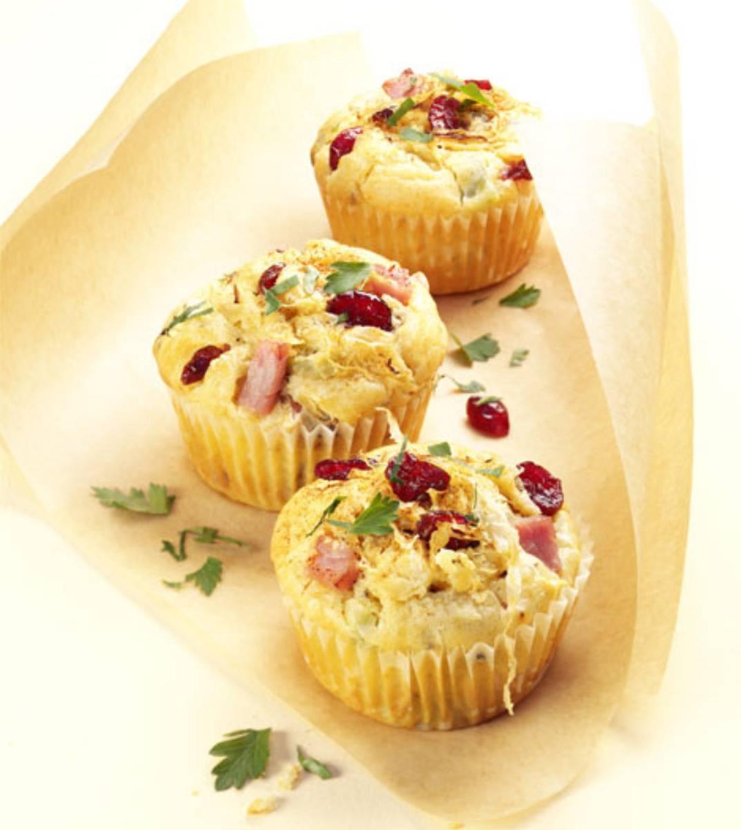 Muffiny z kiszona kapusta i cranberries