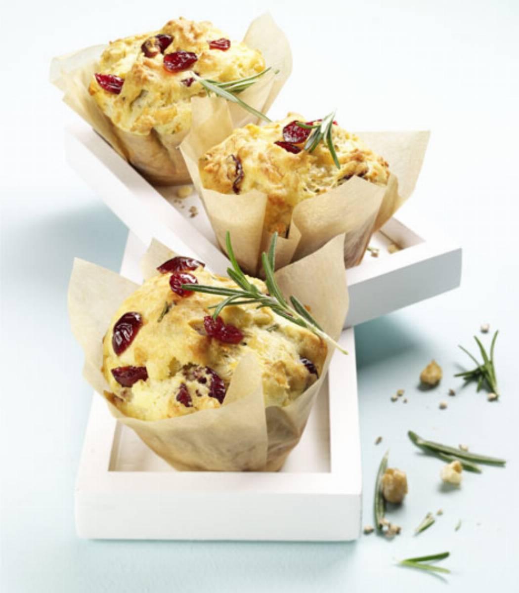 Muffiny z rozmarynem i cranberries