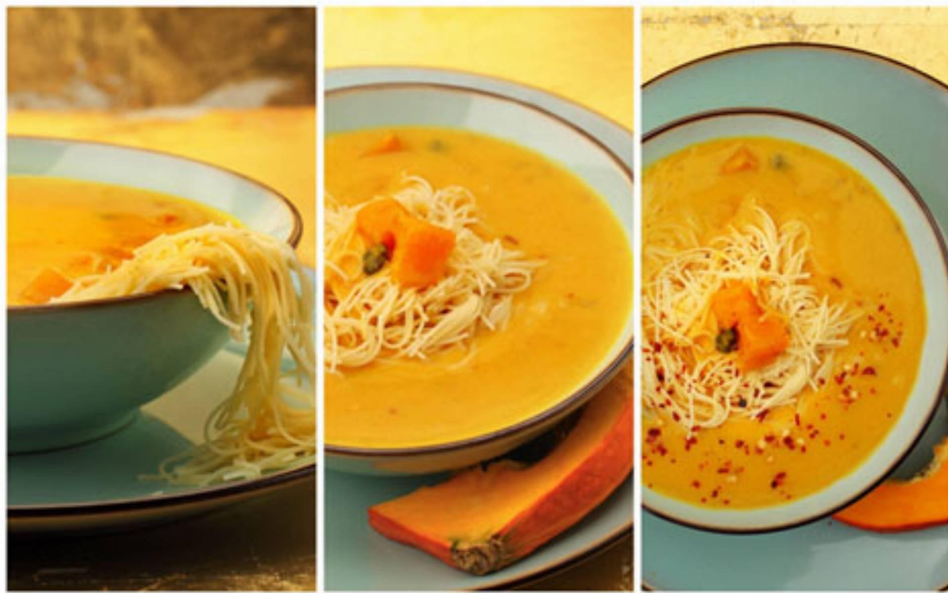 Zupa dyniowa fot. Miedzybrodzki Makaron