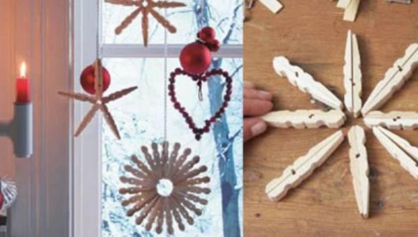 Świąteczne gwiazdki z drewnianych spinaczy – zrób to sama!