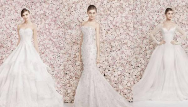 Ślubne suknie w wydaniu romantycznym od Georgesa Hobeika – kolekcja 2014