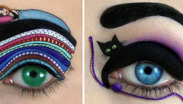 Niezwykłe makijaże oczu autorstwa Tal Peleg